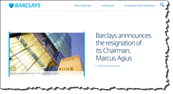Barclays Bank Updates Website
